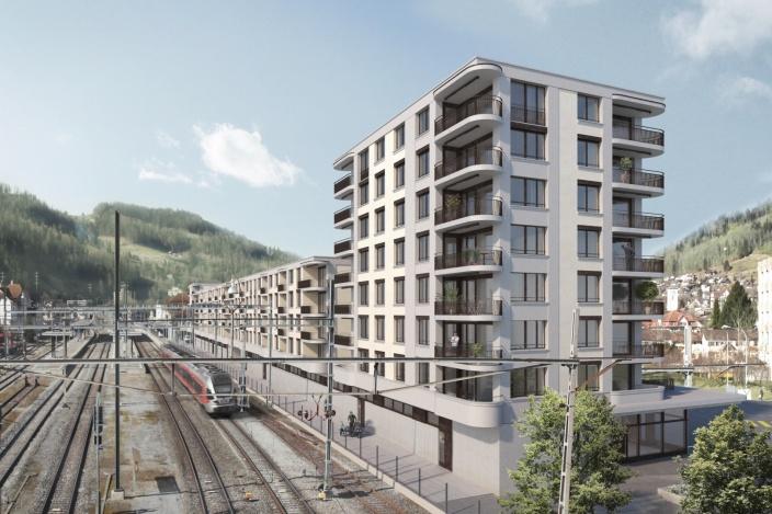 Wohn- und Geschäftshaus Bahnhof Süd, Wattwil