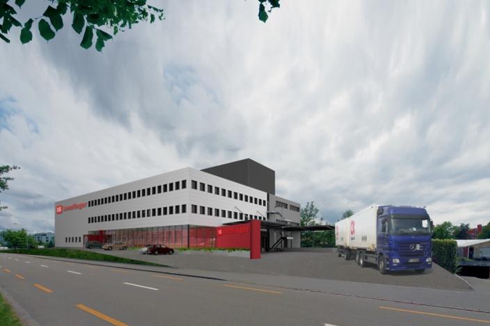 Neubau Produktion Element-Doppelbodenplatten, Nänikon